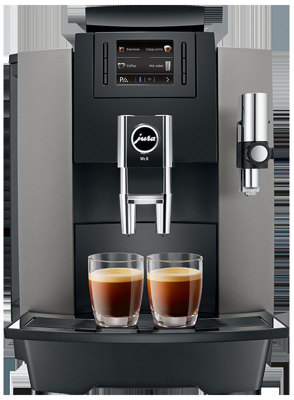 JUra-WE8-dark-inox-front-cappuccino-