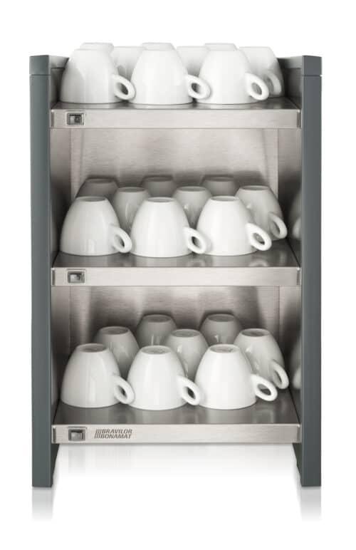 Bravilor-Esprecious-koppenwarmer-grijs-zwart-antraciet-drie-3-niveaus-warmhoud-compact-aanrecht-