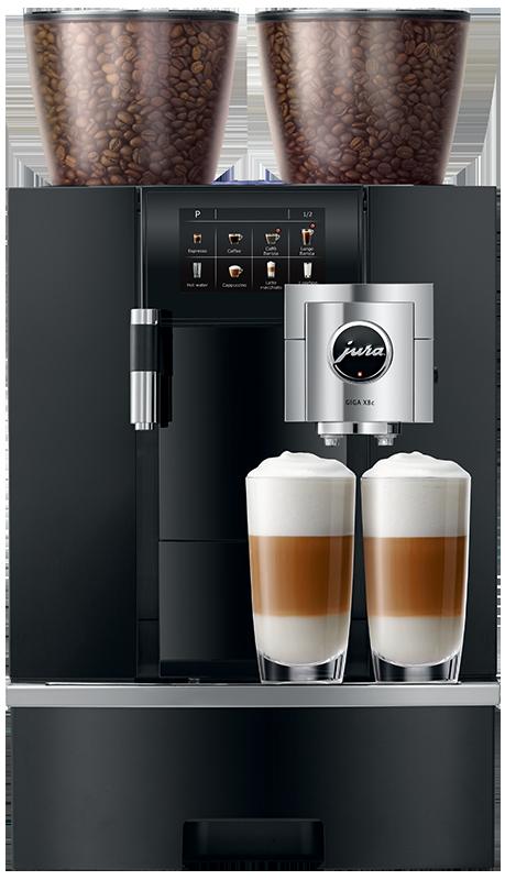 Jura-Giga-X8c-aluminium-black-front-double-cappuccino-